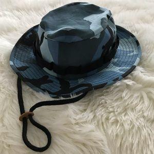 Blue Army Camo Utility Bucket Sun Hat